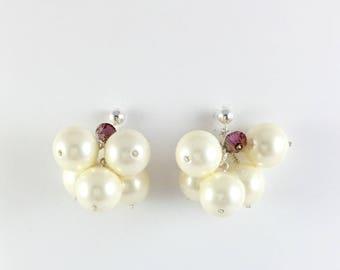 Pearl earrings, Pearl drop earrings, silver pearl earrings, wedding earrings, bridal earrings