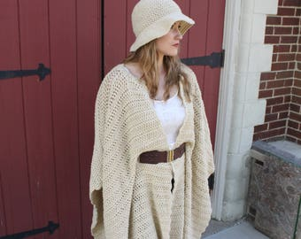 Crochet Pattern for Denver Belted Poncho Belted Poncho Crochet Pattern