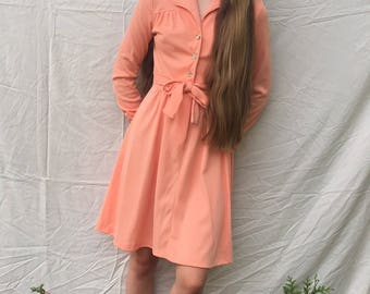 1960s creamsicle colored sundress size S/M