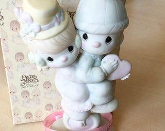 Vintage Precious Moments Lord Help Us Keep Our Act Together Figurine 101850
