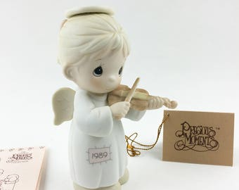 Vintage Precious Moments Oh Holy Night Special 1989 Issue Figurine 522546