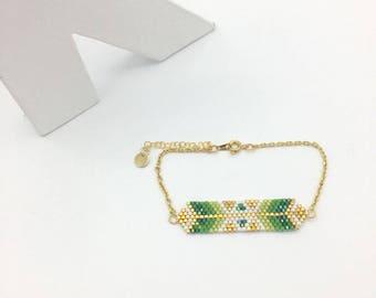 Bracelet hand woven gold AYASHA