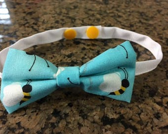 Bumble Bee Dog Bow