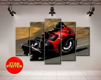 Suzuki canvas, Motorbike canvas, Motorbike wall art, Suzuki Wall Art, Motorcycle wall art, Motorcycle decor, Motorbike print, Bike Wall Art