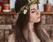 Flower Crown | Faux Flower, Maternity crown, Wedding Flower Crown, Flower Girl, Bridesmaid, Bohemian, Free People Headband