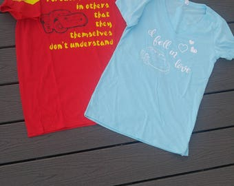Disney Pixar Cars Lightning and Sally Couples Shirts Package