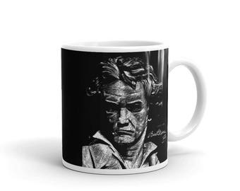 Beethoven Mug | Classical Music | Great Composer Gift Idea