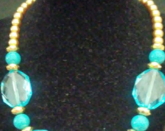 Necklace large beads