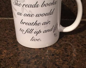 Book Lover Coffee mug, Book Club Mug, Book Lover Gift, Quote Coffee Mug, Book Quote Coffee Cup, Elegant Coffee Mug, Book Lovers Cup, Gift