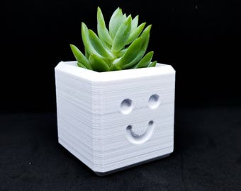 Happy Planter / 3D printed planter / Smile Planter