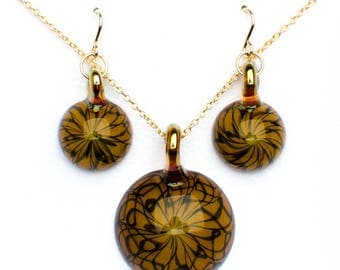 Honey Amulet and Earrings