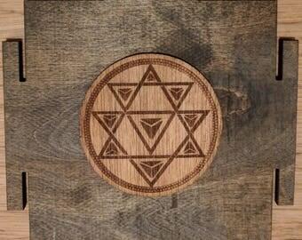 Nava Yoni Yantra Stickers - Circle and Eye