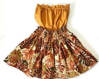 kids hula skirt, girls hula outfit, baby / toddler luau outfit, hula costume, 2 piece set girls outfit, toddler/baby hula outfit
