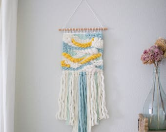 Mango and turquoise wall hanging \\ Weave \\ MTO \\ woven wall hanging \\ tapestry