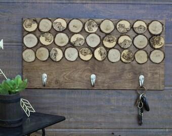 Wood Slice Key Holder