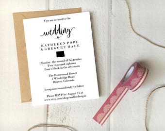 Colorado Wedding Invitation Printable Template 5x7 Card / Instant Download / Destination Wedding State Icon Print At Home Invite Simple DIY