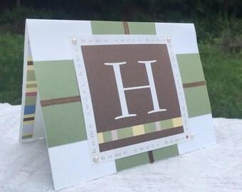 House Warming Home Welcome Handmade Greeting Card
