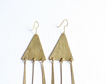 Brass earrings-Statement earrings-African earrings-African jewelry-Kenyan earrings-Kenyan jewelry-Maasai jewelry-Maasai earrings