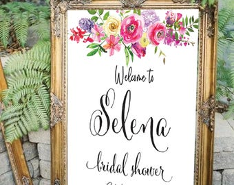 Bridal shower welcome sign, Bridal welcome sign, welcome sign, Printable bridal shower sign, Welcome wedding sign, Bridal shower sign #25-B