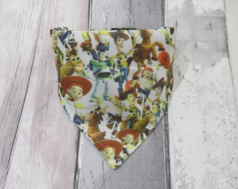 Disney Toy Story Dog Bandana, dog clothes, dog accessories, slip on bandana, pet accessories, detachable bandana, collar accessoryL