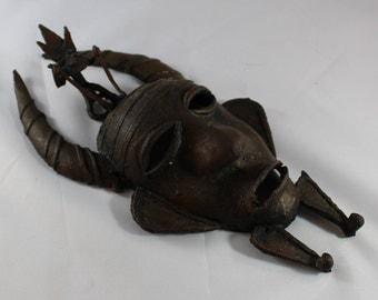 Senufo Brass Cast Pendant Mask, 20th Century, Ivory Coast