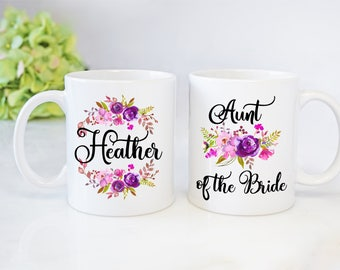 Aunt Of The Bride Gift,Aunt Of The Bride Mug,Wedding Gift For Aunt,Wedding Mugs,Custom Wedding Mugs,Wedding Party Mugs,Aunt Wedding Gift