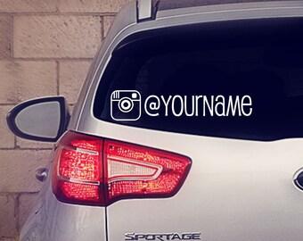 Instagram Business Decal, Instagram Car Decal, Car Ad, Car Sticker, Business, Instagram, Instagram Car Sticker, Business Sticker,