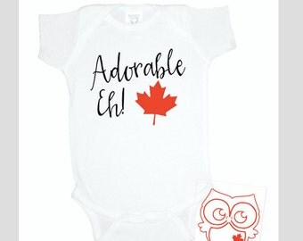 Canadian gift etsy adorable eh canada canada gift for baby baby shower gifts gift for new negle Image collections