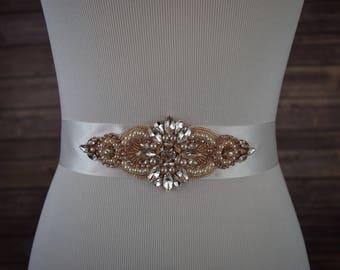 Bridal Sash, Crystal Wedding Sash Belt, Wedding Sash, Bridal Sash Belt, Wedding Belt, Rhinestone Bridal Sash Belt, ITEM #SRGA