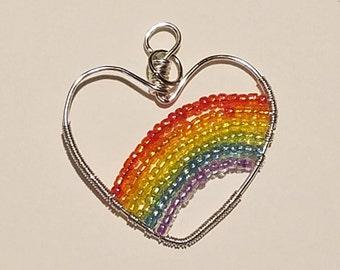 Rainbow Heart Pendant!