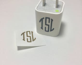 Monogram for iPhone Charging Block