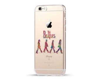 The Beatles Case Music Rock Stars Walking Street Abbey road Colorful Soft Clear Case Cover iphone 7 7plus 6 6S 6plus 5 5s SE matte Fundas