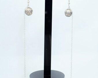Super long sterling silver earrings!