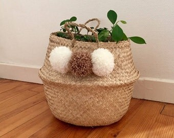 To personalize pom poms storage basket