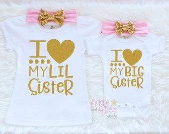 Sibling Outfits, Big Sister Little Sister Shirt, Little Sister Shirt, Big Sister Shirt, Matching Sisters Shirts, Big Sister Shirt, SS8P