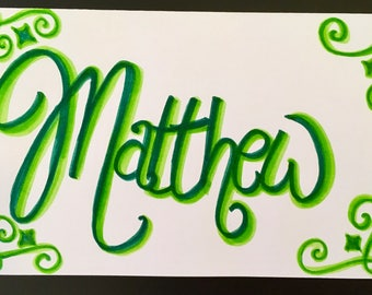 Name Card (2 Colors)