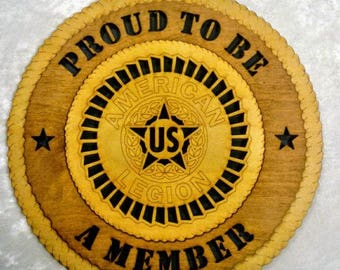 American Legion Wall Plaque Wooden Model