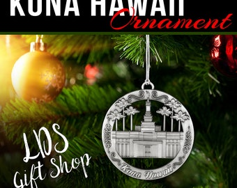 KONA Hawaii LDS Temple Ornament
