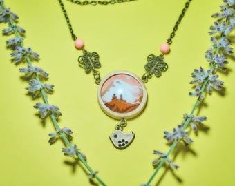 Mountain pendant - Kazbek necklace - climbing jewelry - outdoor gift