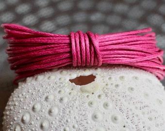 Waxed Cotton Cord, Fuchsia