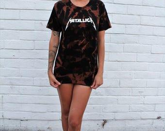 Metallica T-Shirt Tie-Dye Destroyed Collar