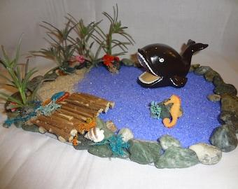 Fairy Garden Ocean with Whale