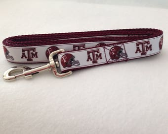 Maroon A and M Inspired Dog Leash, Maroon Leash, A andM Inspired Leash, Heavy Duty Leash, Dog Leash