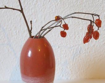 Vase, orange-pink
