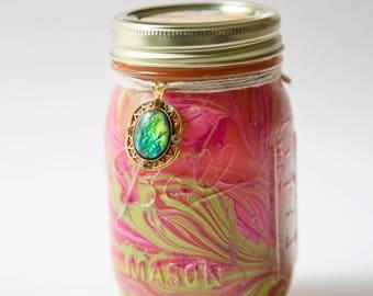 Orange Mango & Papaya Candle (16 Oz.) - Mason Jar Candle - Hand Poured Candle - Unique Candle - Handmade Candle - Candle Gifts