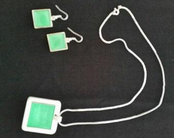 Silver & Emerald Pendant