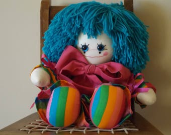 Clown Doll, 17 inch Handmade Toy