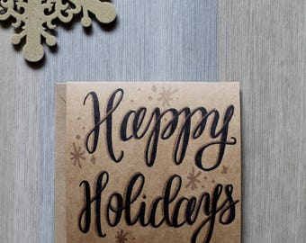 Happy Holidays - handdrawn card