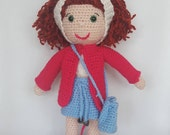 Amigurumi Crochet Doll Stuffed Toy Kids soft toy unique present read head doll Handmade toy
