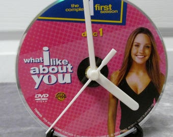 What I Like About You DVD Clock Upcycled TV Show - Holly